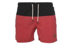 Swimsuit Urban Classic block swim shorts tb1026 black red Brutalzapas