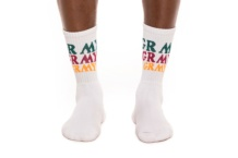 Meias GRIMEY wild child socks gso112 white Brutalzapas