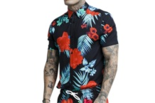 Shirt SikSilk resort shirt ss 14200 Brutalzapas