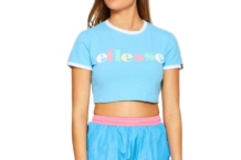 Crop Top Ellesse Italia talibon crop sgb06867 light blue Brutalzapas