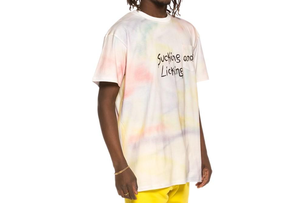 Shirt GRIMEY laughing boy tie dye tee ga524 white Brutalzapas