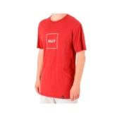 Camiseta HUF essential box logo tee ts00507 red Brutalzapas