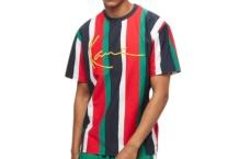 Shirt Karl Kani pinstripe tee 6039980 navy red Brutalzapas