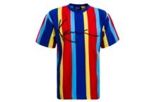 Camiseta Karl Kani pinstripe tee 6039981 blue red Brutalzapas