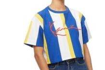 Camiseta Karl Kani stripe tee 6139387 navy white Brutalzapas