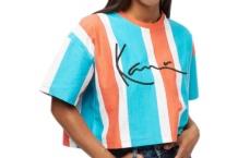 Camiseta Karl Kani stripe tee 6139389 orange blue Brutalzapas