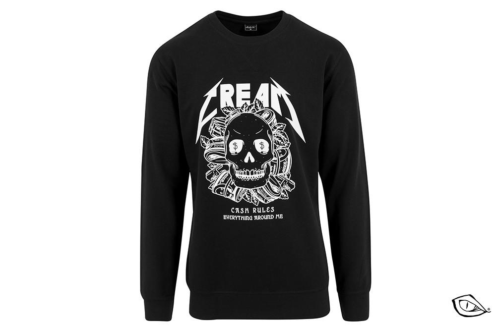 shirt mister tee cream skull crewnck MT380
