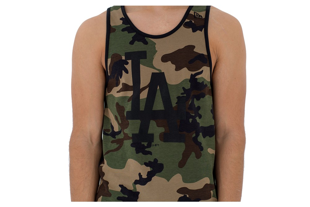 NEW ERA TEAM APPAREL LOGO TANK LOS ANGELES DODGERS