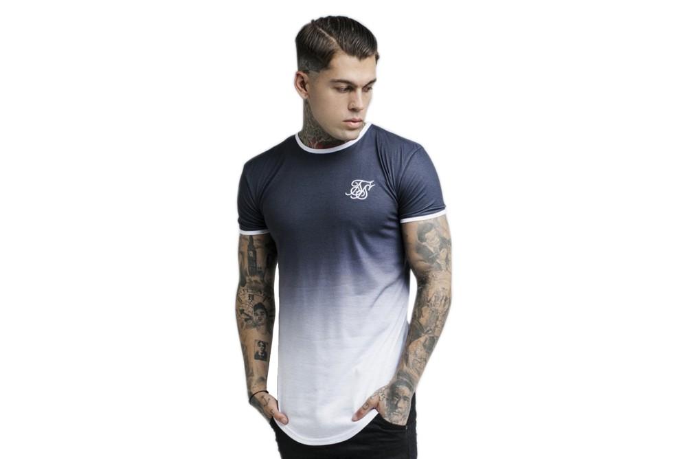Shirt SikSilk ss ringer fade gym ss 13637 Brutalzapas