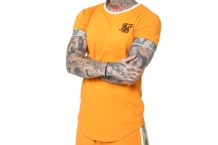 SIKSILK RUNNER CUFF GYM TEE