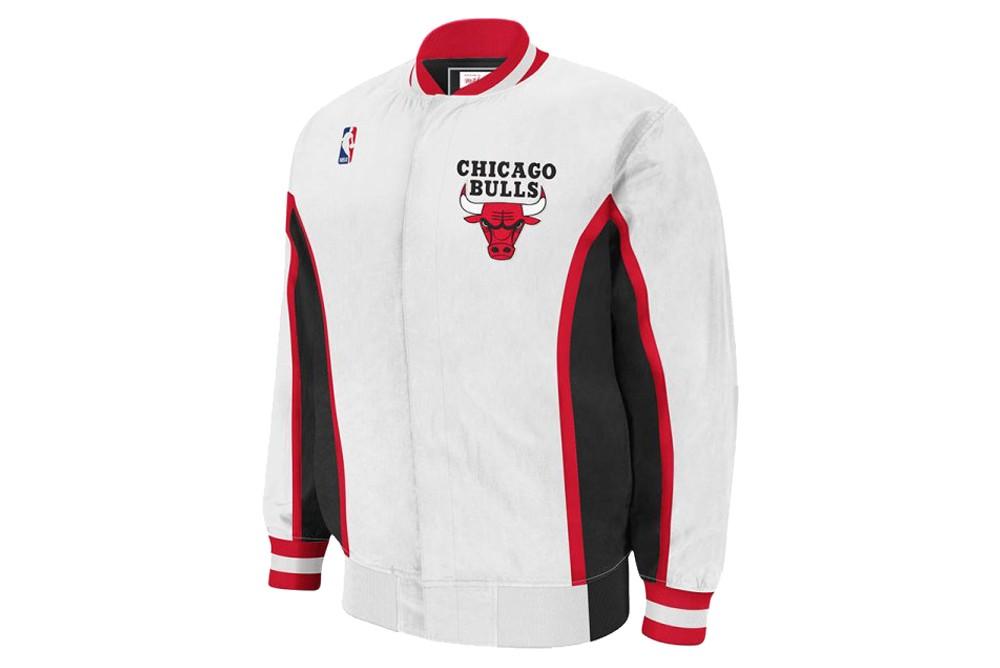 Jacket Mitchell & Ness nba authentic warmup jacket chicago bulls 1992 93 white Brutalzapas