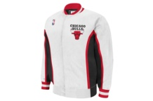 Chaqueta Mitchell & Ness nba authentic warmup jacket chicago bulls 1992 93 white Brutalzapas