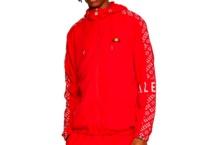Jacket Ellesse Italia melfi hooded track red SHA06432 Brutalzapas