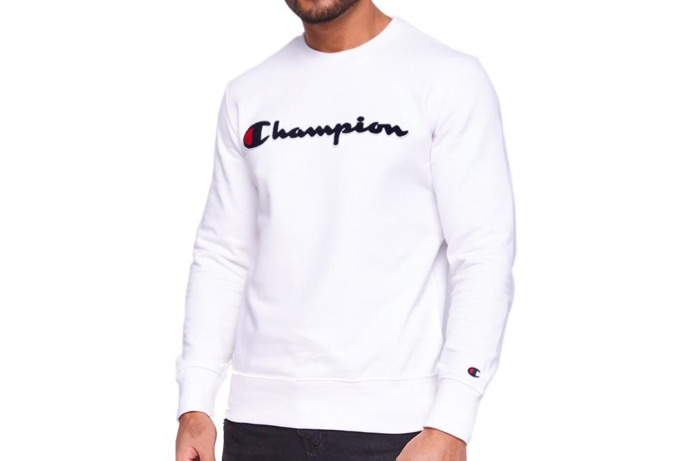 Sweatshirts Champion crewneck sweatshirt 212942 wht Brutalzapas