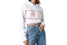 Crop Top Fila hooded top 687077 bright white Brutalzapas