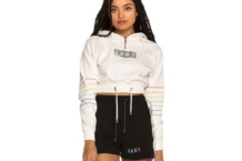 Sweatshirt GRIMEY fluid planet crop zip ggszh232 white Brutalzapas