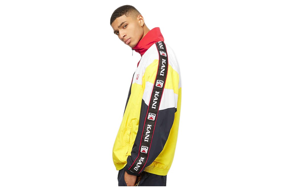 KARL KANI RETRO BLOCK TRACK JACKET