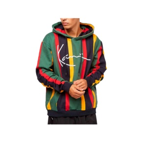 Sweatshirts Karl Kani kk signature stripe 6091817 green red Brutalzapas