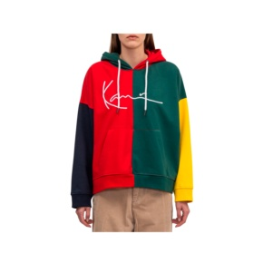 Sweatshirt Karl Kani kk retro block 6121867 red green Brutalzapas