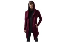 Chaqueta Urban Classic Long Hooded Open Edge Cardigan TB1389 Brutalzapas
