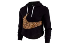 Sweat-Shirt Nike w nsw hoodie crop animal av6166 010 Brutalzapas