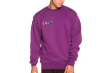 Sweatshirts GRIMEY brick top crewneck gsw316 violet Brutalzapas