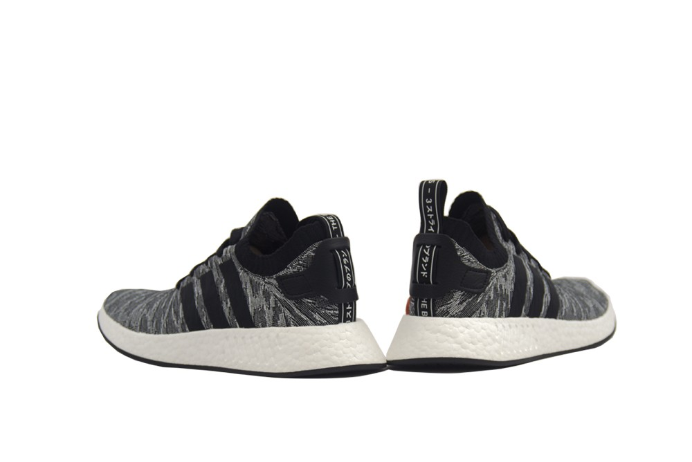 adidas nmd r2 pk white & black / by9410 / uomini primeknit