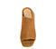 Ref. 3767 Sandalia ante cuero tipo zueco. Puntera cuadrada y descubierto por los dedos. Tacón ancho de 7 cm y sin plataforma delantera. - Ítem2
