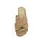 Ref: 3771 Sandalia ante beige con pala cruzada y tacón de 6 cm. Sin plataforma delantera. - Ítem2