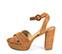 Ref: 3773 Sandalia ante cuero con pala cruzada. Pulsera al tobillo con hebilla al tono. Tacón de 10.5 cm y plataforma delantera de 3.5 cm. - Ítem3