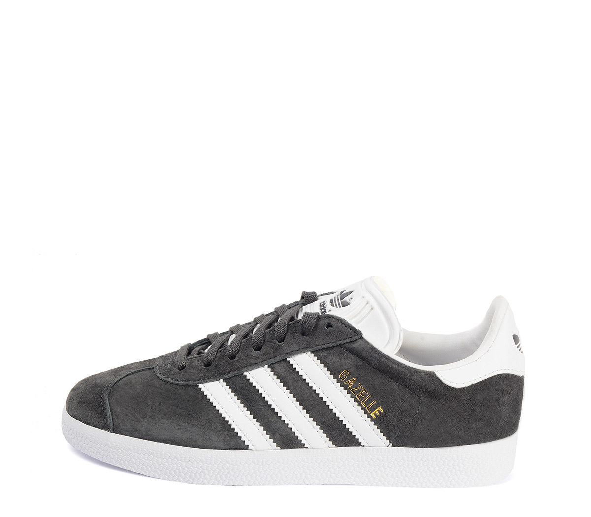 Ref: 3775 Adidas serraje gris con detalles en piel blanco. Cordones al tono y blancos de repuesto