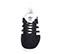 Ref: 3776 Adidas serraje negro con detalles en piel blanco. Cordones al tono y blancos de repuesto - Ítem2