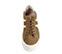 Ref. 3783 Sneaker serraje visón con dos rayos en piel blanca en el exterior y en el interior. Cordones al tono. Plataforma de 5.5 cm. - Ítem2