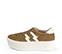 Ref. 3783 Sneaker serraje visón con dos rayos en piel blanca en el exterior y en el interior. Cordones al tono. Plataforma de 5.5 cm. - Ítem3