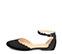 Ref: 3788 Zapato ante negro con detalles de onda en contorno y pulsera al tobillo con hebilla plateada. Puntera cerrada. - Ítem3