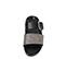 Ref: 3789 Sandalia plana de piel negra con doble tira en el empeine, una en piel negra con hebilla plateada y otra piel color plomo. Plantilla anatómica. - Ítem2