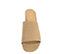 Ref: 3791 Sandalia ante beige con pala lisa. Altura tacón 6 cm y sin plataforma delantera. Detalle elástico interior. - Ítem2