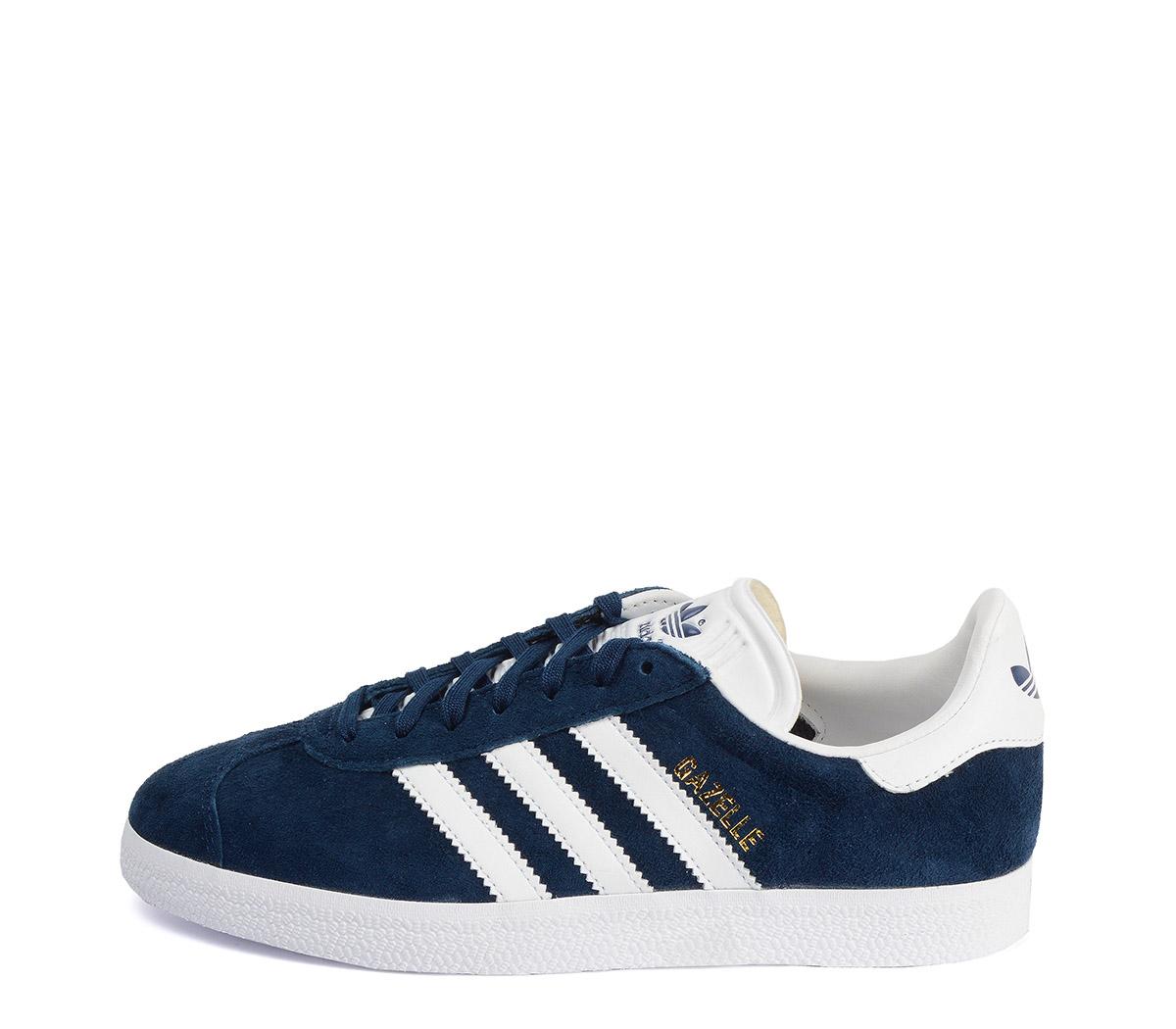 Ref: 3801 Adidas Gazelle serraje azul marino. Con detalles en piel blanca. Cordones al tono y blancos de repuesto.