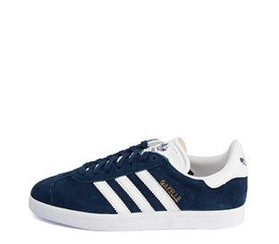 Ref: 3801 Adidas Gazelle serraje azul marino. Con detalles en piel blanca. Cordones al tono y blancos de repuesto. - Ítem1