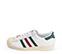 Ref: 3802 Adidas Superstar piel blanca con detalles en verde y granate. Cordones blancos. - Ítem3