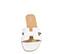 Ref: 3803 Sandalia plana piel blanca con pala en forma de H. Puntera cuadrada. - Ítem2