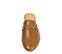 Ref. 3804 Babucha de piel en color cuero con detalle metalico dorado. - Ítem2