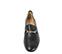 Ref. 3805 Zapato tipo mocasín plano de piel negra. Detalle metálico dorado. - Ítem3