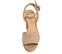Ref: 3808 Sandalia ante beige con pala lisa y pulsera al tobillo con hebilla forrada al tono. Altura tacón 10.5 cm y plataforma delantera de 3.5 cm - Ítem2