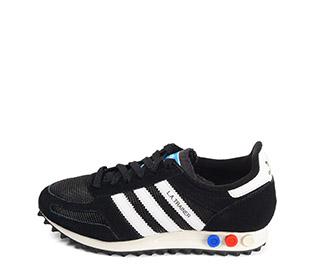 Ref: 3809 Adidas L.A Trainer serraje negro con detalles en piel blanco. Botones tricolor en la suela. Cordones negros. - Ítem1