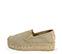 Ref. 3819 Zapato tela beige con plataforma de esparto de 4 cm. - Ítem3