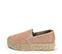 Ref. 3820 Zapato tela rosa con plataforma de esparto de 4 cm. - Ítem3