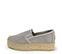 Ref. 3821 Zapato tela gris con plataforma de esparto de 4 cm. - Ítem3