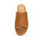 Ref. 3830 Sandalia ante cuero tipo zueco. Puntera redonda y descubierta por los dedos. Altura tacón 9 cm y plataforma delantera de 3 cm. Pequeño elástico en la parte interior. - Ítem2