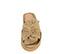 Ref. 3834 Sandalia serraje beige con detalle lazo en la pala. Doble suela combinada. Plantilla anatomica y acolchada. Altura tacón 4 cm y plataforma delantera 2.5 cm. - Ítem2